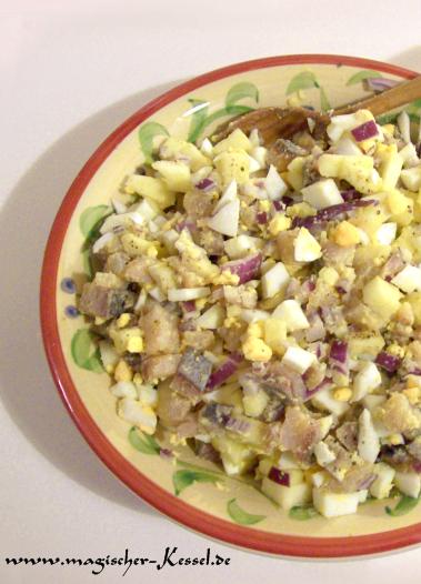 rezept f r h ckerle frischer matjes salat salate der magische kessel. Black Bedroom Furniture Sets. Home Design Ideas