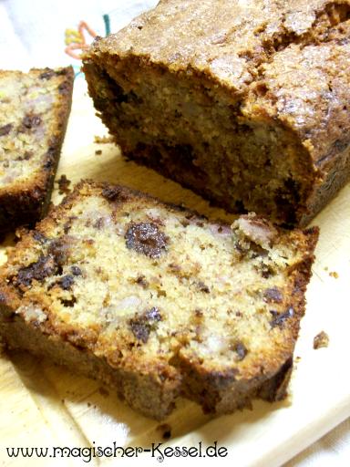 Rezept für Black Banana Cake - Resteverwertung für alte Bananen