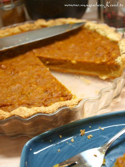 Rezept für Pumpkin Pie mit Walnüssen
