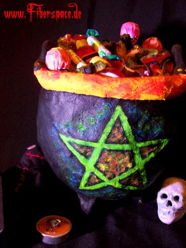 Hexenkessel Halloweendeko