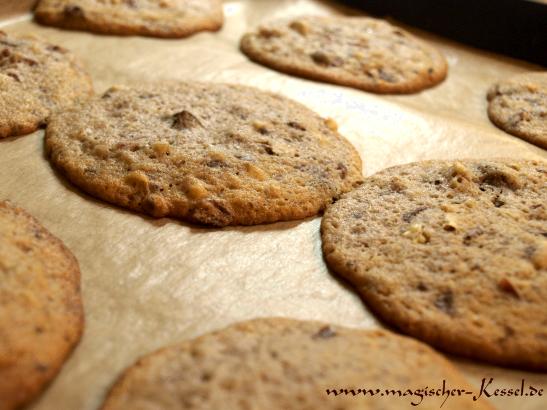 Frisch gebackene Cookies
