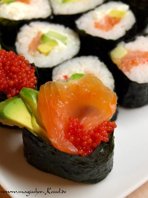 Rezept selbstgemachtes Sushi - Gunkanmaki