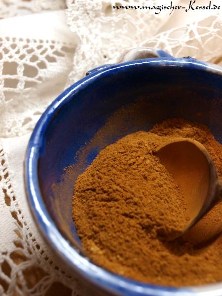 Rezept für Kürbiskuchengewürze / Recipe for pumpkin pie spice
