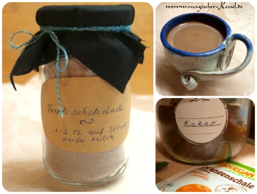Rezept für selbstgemachtes Kakaopulver / heiße Trinkschokolade