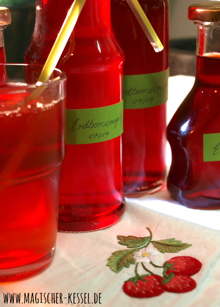Limonadensirup aus Erdbeeren