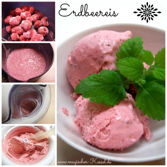 Wie macht man selbst Erdbeereis?