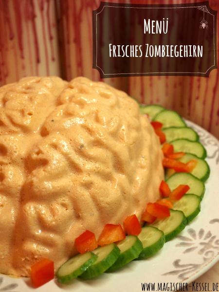 Halloweenrezept für Gehirnpuddingform - Räucherfischterrine