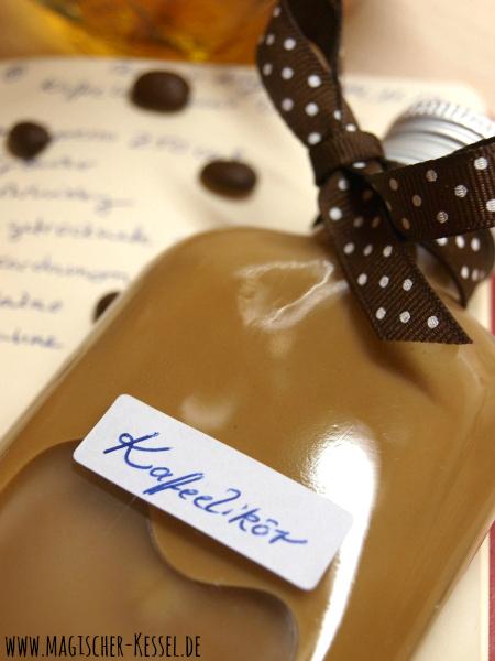 Rezept für selbstgemachten Kaffeelikör mit Espresso