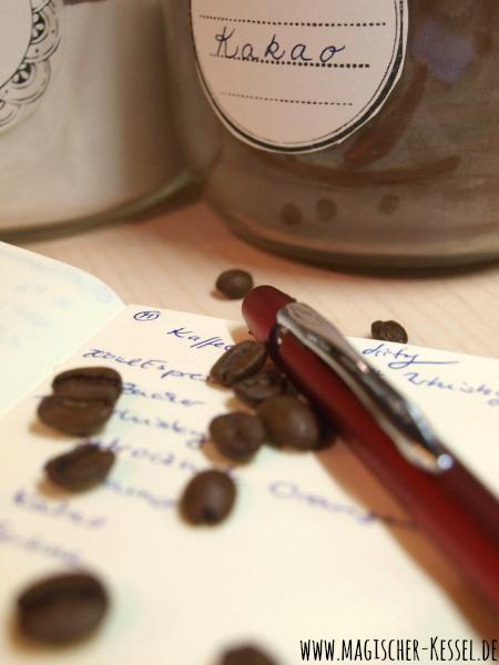 Rezeptentwurf für Espressolikör mit Whisky