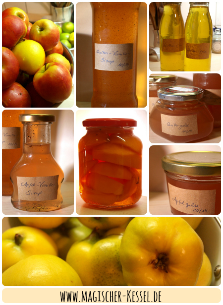 Einkochtes für die Vorratskammer aus Äpfeln und Quitten