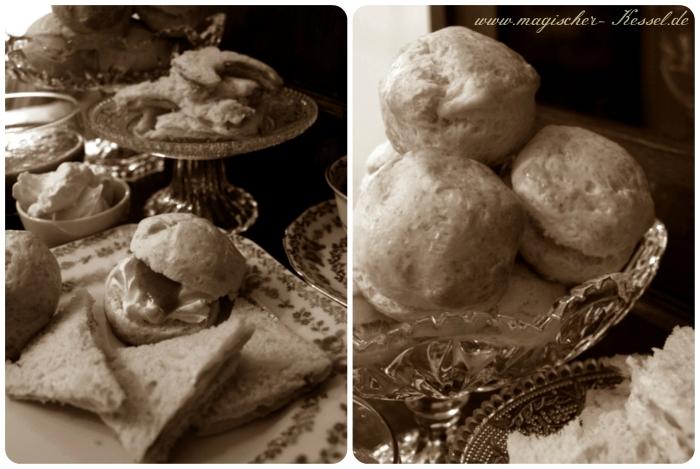 Cream Tea mit frisch gebackenen Scones