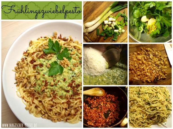 Rezept für selbstgemachtes Pesto aus Frühlingszwiebeln