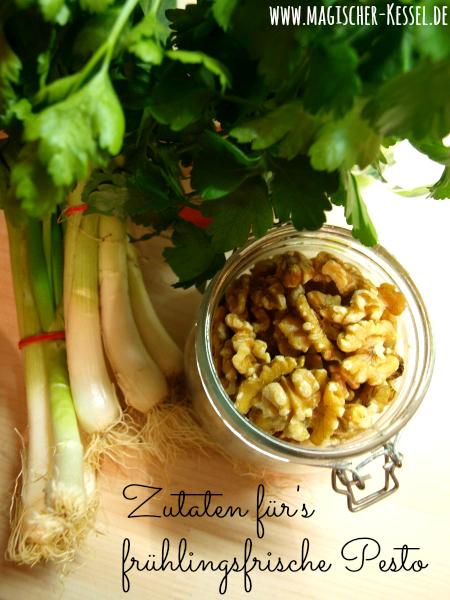 Zutaten für selbstgemachtes Pesto