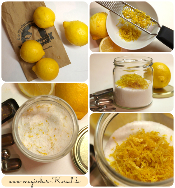 Rezept für Zitronensalz / recipe for lemon zest salt