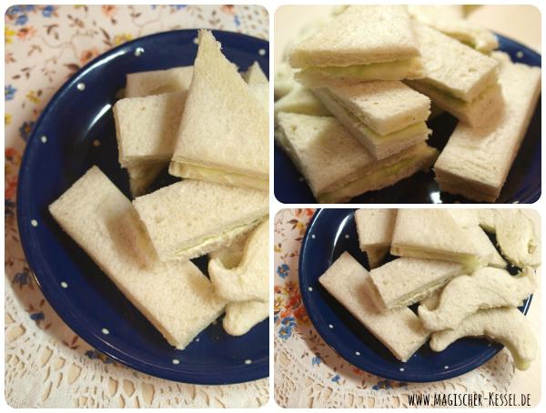 Belegte Brote mit Gurke / Sucumber Sandwiches