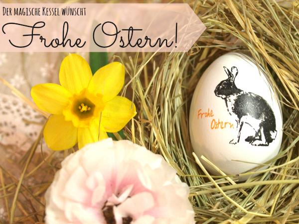 Osterkarte magischer Kessel