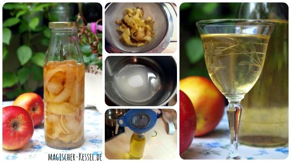 Wie macht man Apfellikör? Rezept für Angesetzten mit Apfelschalen