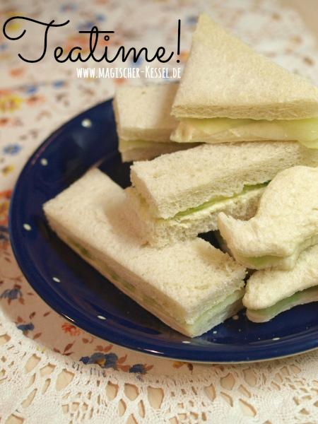 Cucumber Sandwiches - frischer & leichter Snack zur Teatime.