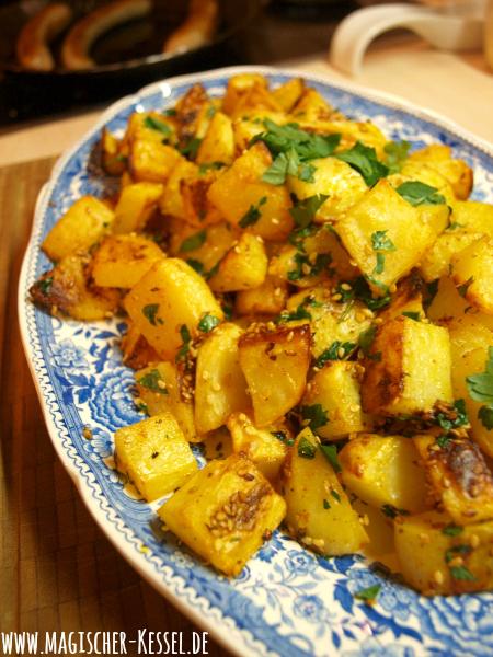 Rezept für Batata Harra aus dem Ofen