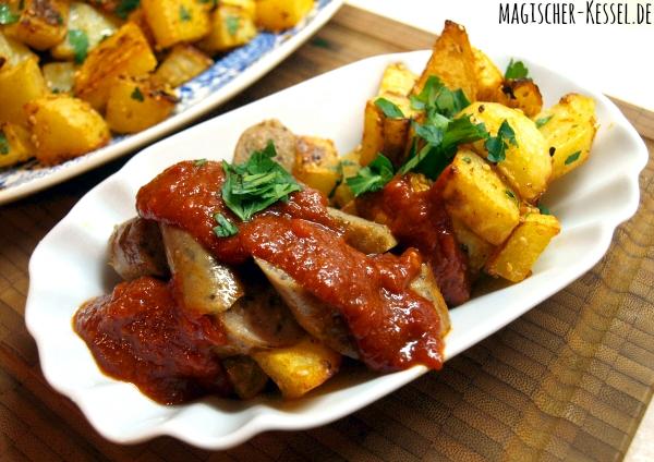 Currywurst mit Pommes auf arabisch. Rezept für selbstgemachte Currysauce. #curryketchup