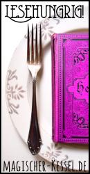 """Banner für das bibliophil-kulinarische Blogevent """"Lesehungrig!"""" #bücher #bücherliebe"""