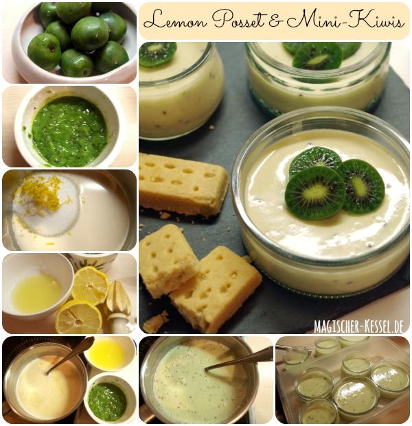 Britisches Dessert: Lemon Posset mit Kiwibeeren