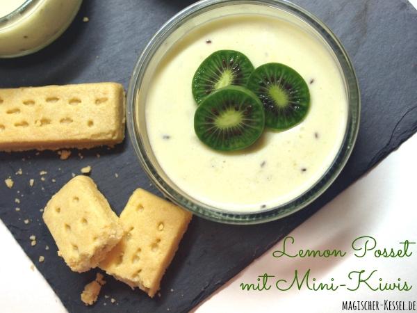 Rezept für Lemon Posset - mit Mini-Kiwis