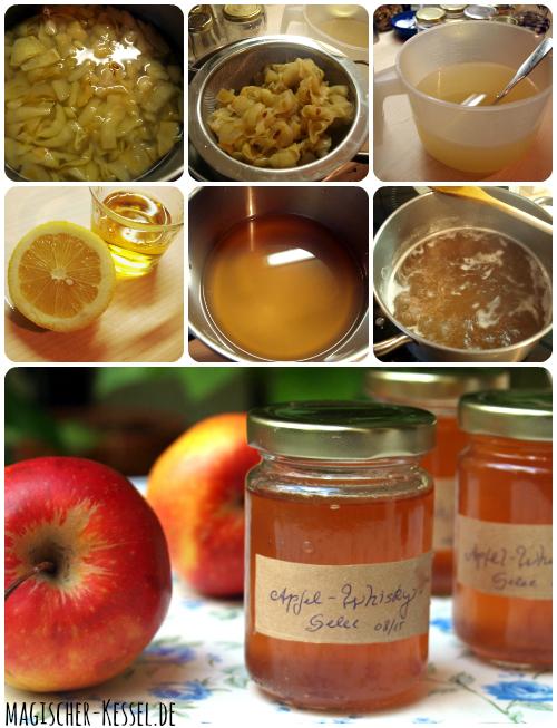 Rezept für Apfel-Whisky-Gelee #einkochen