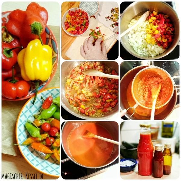 Scharfes Geschenk aus der Küche: Rezept für selbstgemachte Hot Sauce / Chili Sauce (recipe for homemade Hot Sauce)