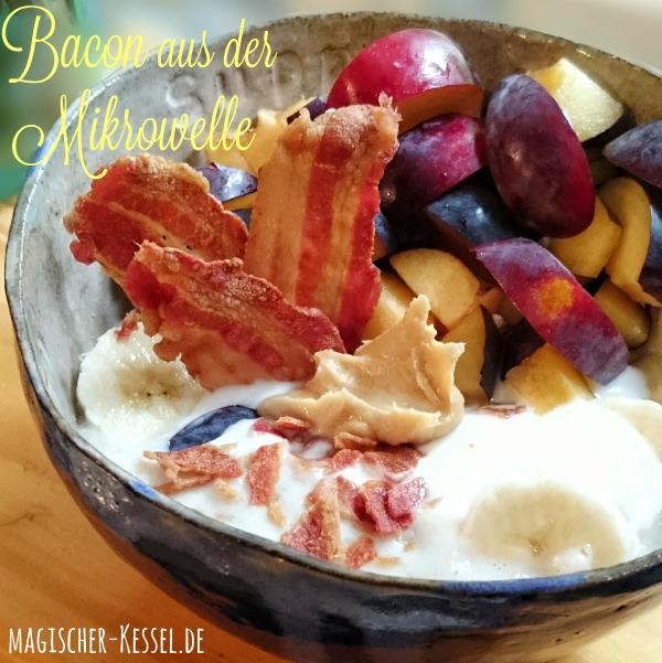 Porridge und Bacon aus der Mikrowelle