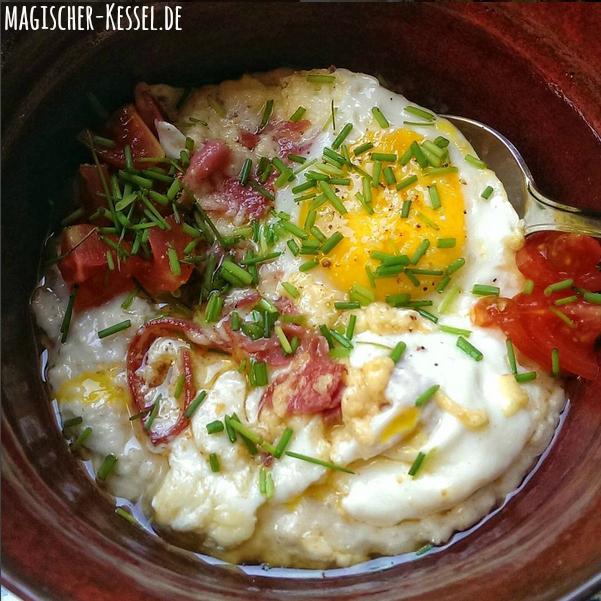 Herzhaftes Porridge aus der Mikrowelle