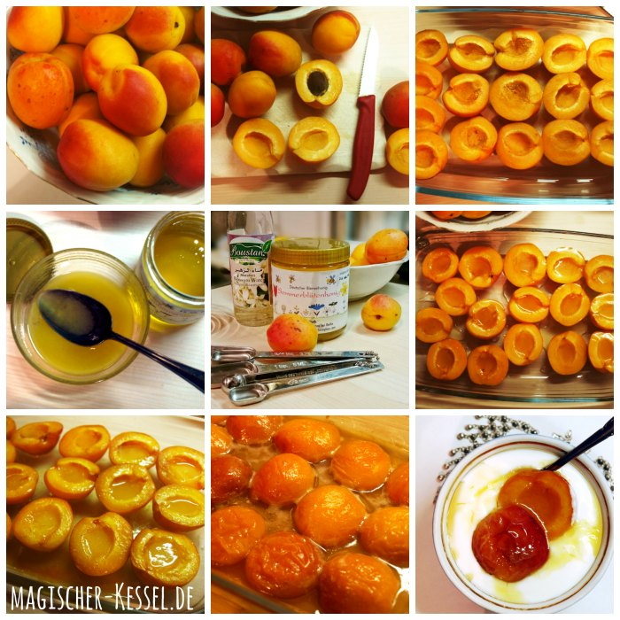 Arabic food: How to make bakes apricots with honey, butter & orangeblossom water