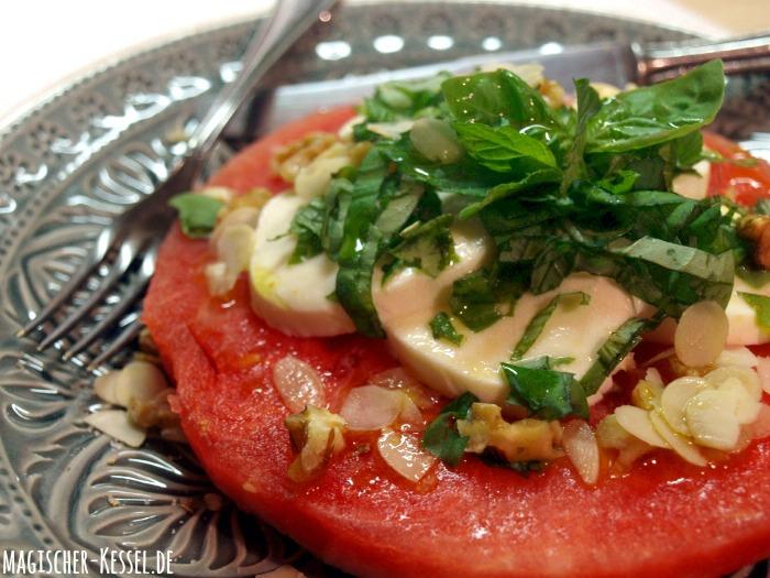 Rezept für Wassermelonensalat