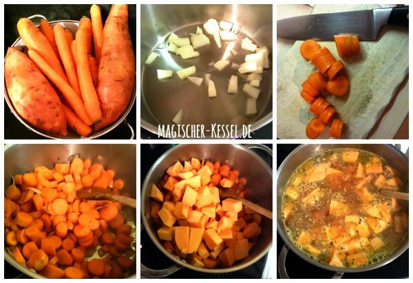 Rezept für Möhrensuppe mit Süßkartoffeln