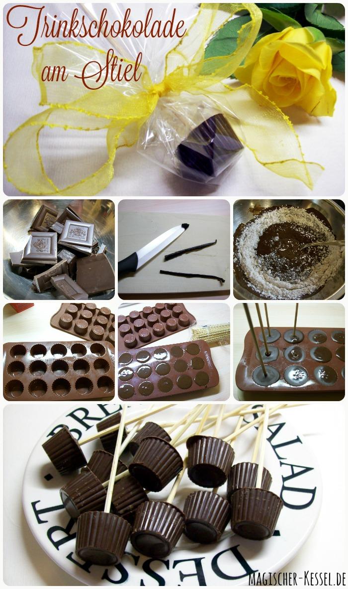 Wie macht man Trinkschokolade am Stiel