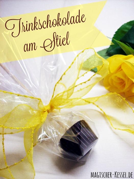Geschenk aus der Küche: Trinkschokolade am Stiel selber machen
