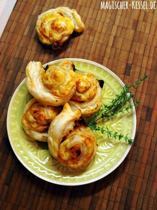 Fingerfood: Rezept für Blätterteigschnecken mit Harissa