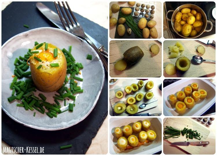 Kartoffelrezept für Ostern: Gefüllte Kartoffeln mit Wachteleiern
