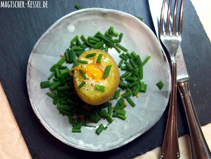 Kartoffeln und Wachteleier für ein Kartoffelrezept