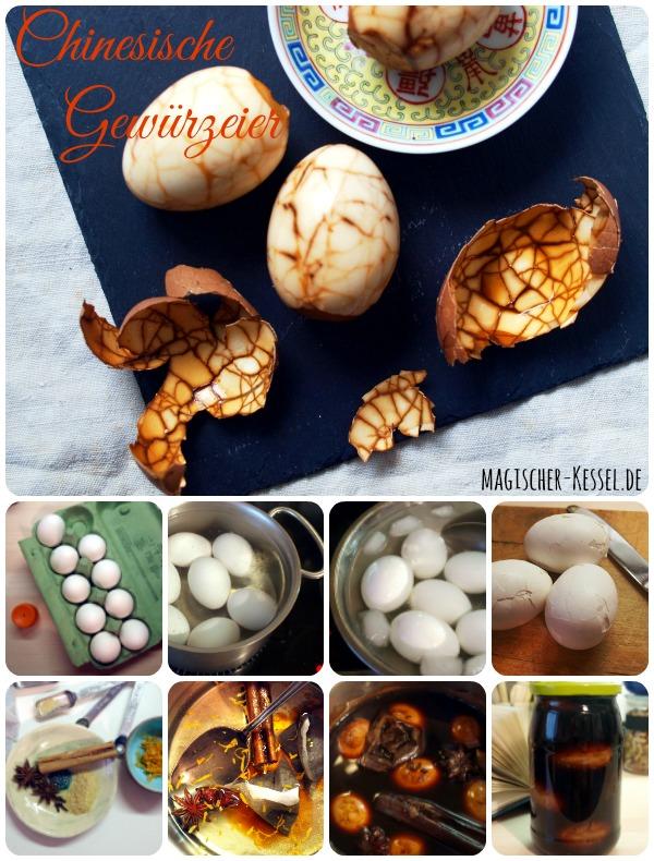 Rezept für chinesische Gewürzeier (Chinese Tea leaf eggs)