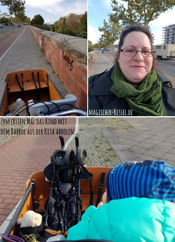 die erste Fahrt mit dem Lastenrad durch Berlin