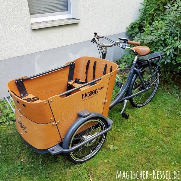 Perfekt für die Fahrt durch Berlin: Ein Lastenrad!