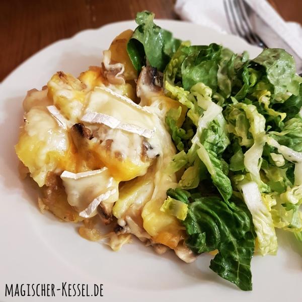 Tartiflette mit Salat