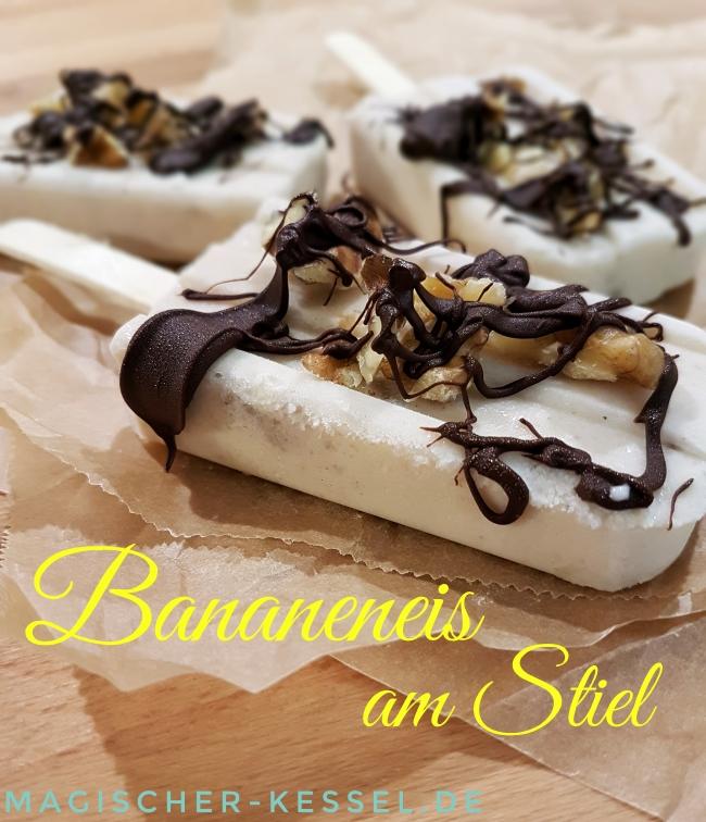 Bananeneis am Stiel / Banana Paletas