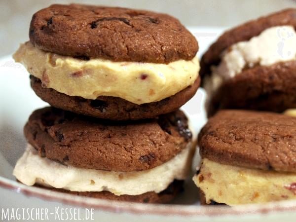 Rezept für selbstgemachte Eiscreme-Sandwiches