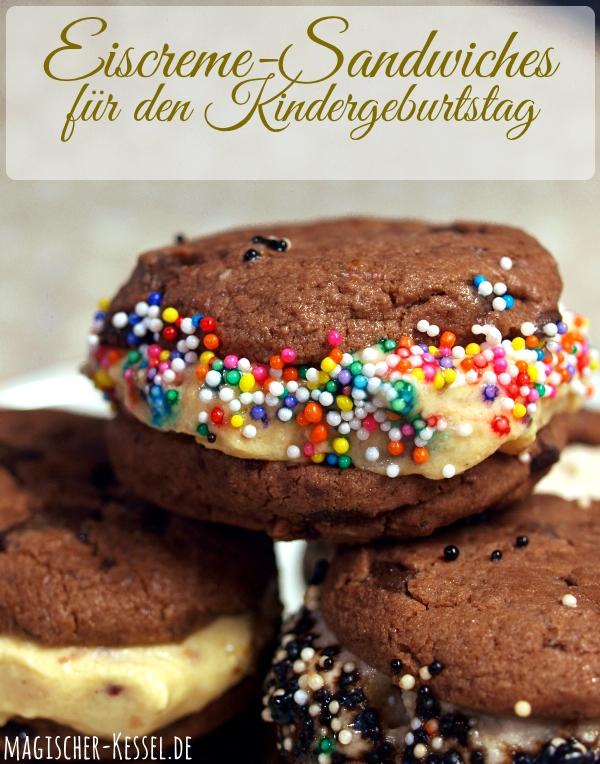 Eiscreme-Sandwiches - eine coole Idee für den Kindergeburtstag