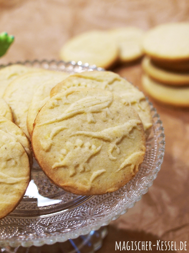 Kekse - hergestellt mit einer Teigrolle mit Muster/Lasergravur