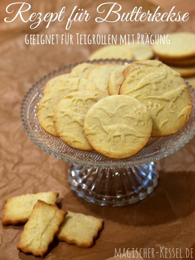 Rezept für Butterkekse - geeignet für Teigrollen mit Prägung/Prägerollen/Nudehölzer mit Muster