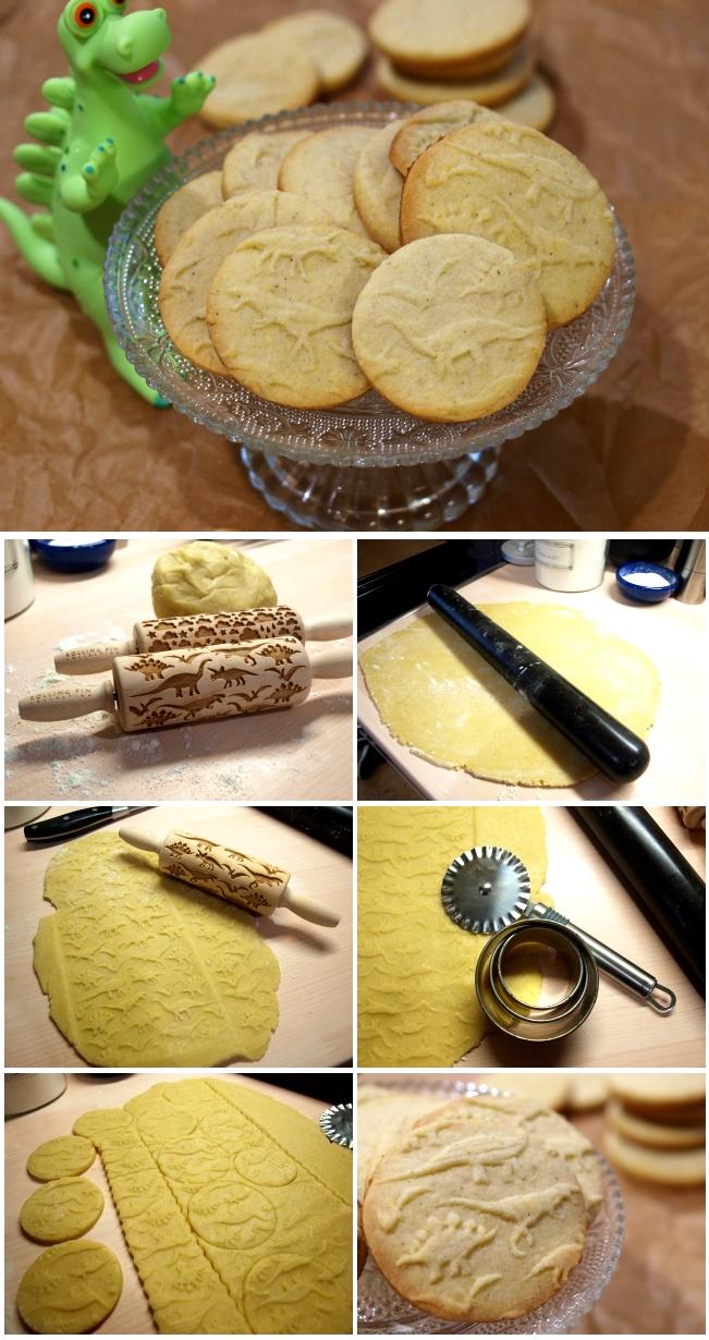 Wie bäckt man Kekse mit Teigrollen mit Muster?