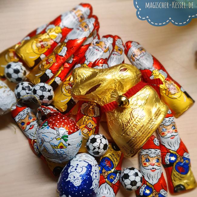 Resteverwertung Weihnachtsschokolade und Osterhasen